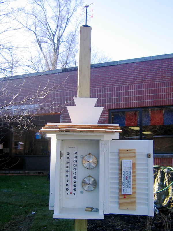 The weather station complements TJ's existing outdoor classroom resources  Photo Courtesy of Lynn Wagner