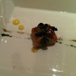 Sweetbread with Black Trumpet Mushrooms